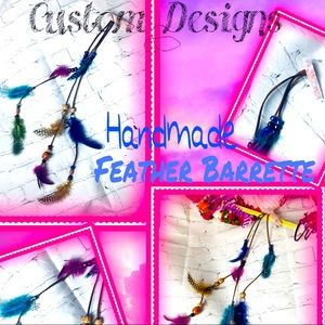 🌈 80's Style Feather Barrettes • Custom Made• ⭐️